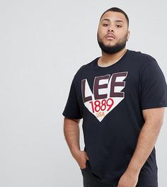 Черная футболка с логотипом в стиле ретро Lee PLUS - Черный