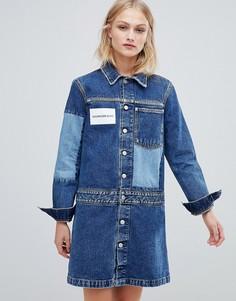 Джинсовое платье-рубашка Calvin Klein Jeans - Синий