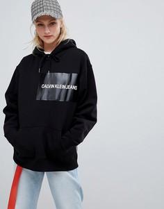 Худи с логотипом Calvin Klein Jeans - Черный