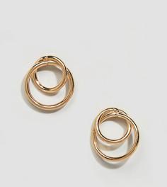 Золотистые серьги-кольца Glamorous - Золотой