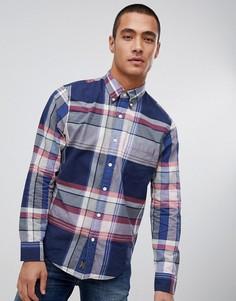 Сине-розовая рубашка в клетку Abercrombie & Fitch madras - Темно-синий