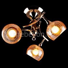 Люстра на штанге 3353/3Н золото/коричневый Eurosvet