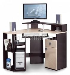 Стол компьютерный Костер-7 5210-00 венге/клен светлый Олимп мебель