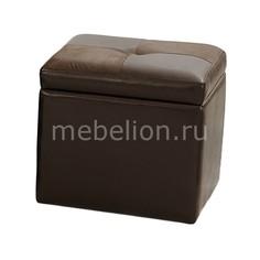Банкетка с ящиком для хранения 2552BS коричневая Петроторг