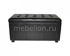 Банкетка с ящиком для хранения 2552L черная Петроторг