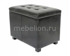 Банкетка с ящиком для хранения 2550L черная Петроторг