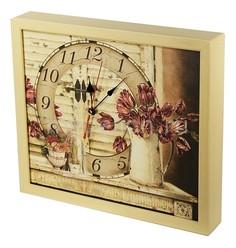 Настенные часы (34х30 см) Тюльпаны-AKI 3034-20 Акита