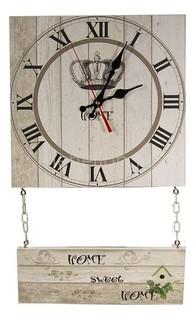 Настенные часы (30х52 см) С подвесным декором C71 Акита