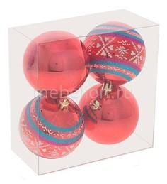 Набор из 4 елочных шаров (7 см) 696402 Ремеко