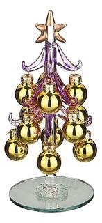 Ель новогодняя с елочными шарами (15 см) ART 594-019