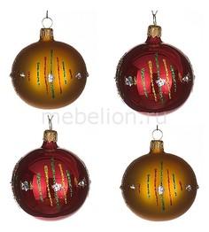 Набор из 4 елочных шаров (6 см) Легенда 860-514