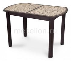 Стол обеденный Гамма ПО со стеклом Домотека