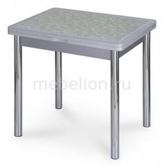 Стол обеденный Чинзано М-2 со стеклом и экокожей Домотека