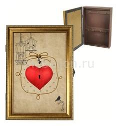 Ключница (24х34 см) Ключ от сердца 312-4 Акита