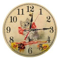 Настенные часы (30 см) Котенок AC05 Акита