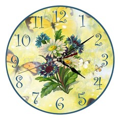 Настенные часы (30 см) Ромашки C13 Акита