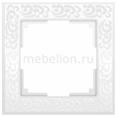 Рамка на 1 пост Flock WL05-Frame-01-white Werkel