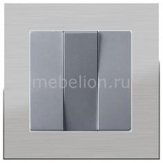 Выключатель трехклавишный без рамки Aluminium(Серебряный) WL06-SW-2G+WL06-SW-3G Werkel