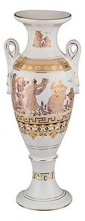 Ваза напольная (60 см) Белая Греция 54-275