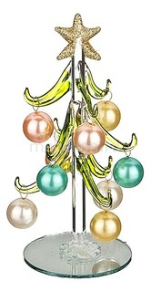 Ель новогодняя с елочными шарами (15 см) ART 594-104
