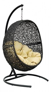 Кресло подвесное Lunar Black Экодизайн