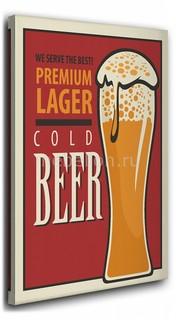 Панно (40х50 см) Cold beer 1136874 Ekoramka