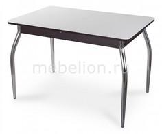 Стол обеденный Гамма ПР со стеклом Домотека