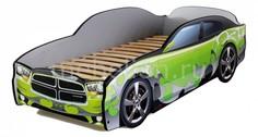 Кровать-машина Додж с подсветкой дна МебеЛев