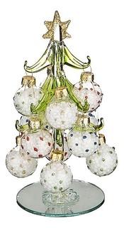 Ель новогодняя с елочными шарами (15 см) ART 594-097