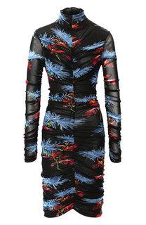 Платье с драпировкой и высоким воротником Diane Von Furstenberg