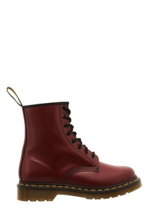 Красные кожаные ботинки Dr Martens