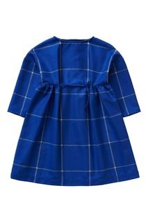 Синее платье в клетку Il Gufo
