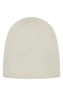 Белая шапка-бини из кашемира Tegin