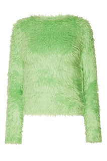 Зеленый джемпер с фактурной отделкой Balenciaga