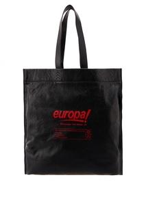 Черная кожаная сумка Balenciaga