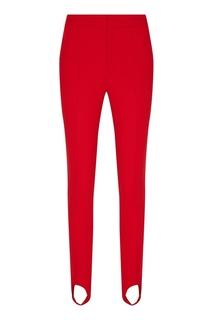 Красные брюки со штрипками Moncler