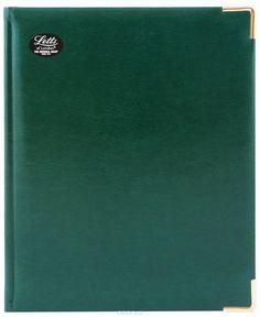 Ежедневник LETTS LEXICON, недатированный, A5, белые страницы, кожа искусственная, зеленый, 1 шт