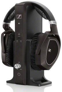 Наушники SENNHEISER RS 185, накладные, черный, беспроводные радио