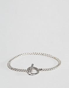 Серебристый браслет-цепочка Icon Brand - Золотой