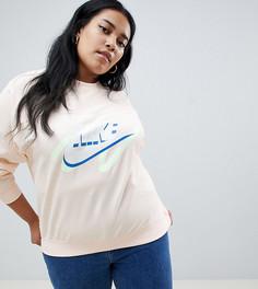 Свитшот с логотипом Nike Plus Archive Peach - Оранжевый