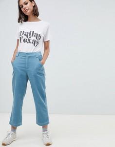 Вельветовые брюки прямого кроя ASOS DESIGN - Синий