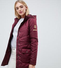 Дутая куртка с капюшоном Noisy May Tall - Красный