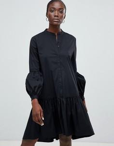 Платье миди Selected Femme - Черный