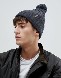 Темно-серая шапка-бини с помпоном Fjallraven Byron - Серый