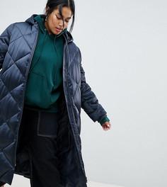 Длинная дутая куртка ASOS DESIGN Curve - Серый