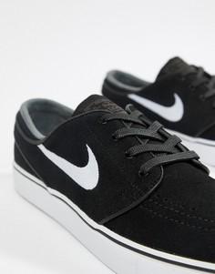 Черные замшевые кроссовки Nike SB Zoom Stefan Janoski 333824-067 - Черный e35c107e44a