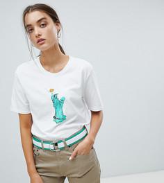 Белая футболка с графическим принтом Nike - Белый