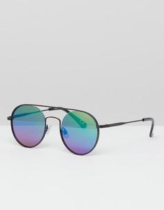 Черные круглые солнцезащитные очки ASOS DESIGN - Черный