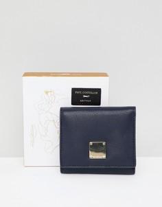 Маленькая кожаная сумка с откидным клапаном Paul Costelloe - Темно-синий