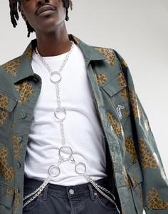 Серебристое ожерелье для тела в восточном стиле ASOS DESIGN - Серебряный